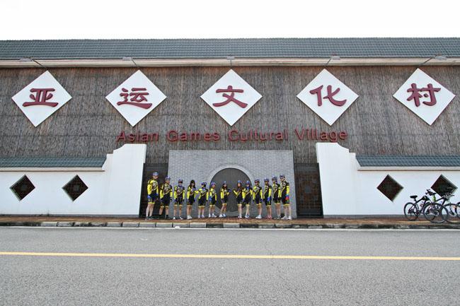 脉腾车队,老虎衣,monton骑行服,广州亚运村