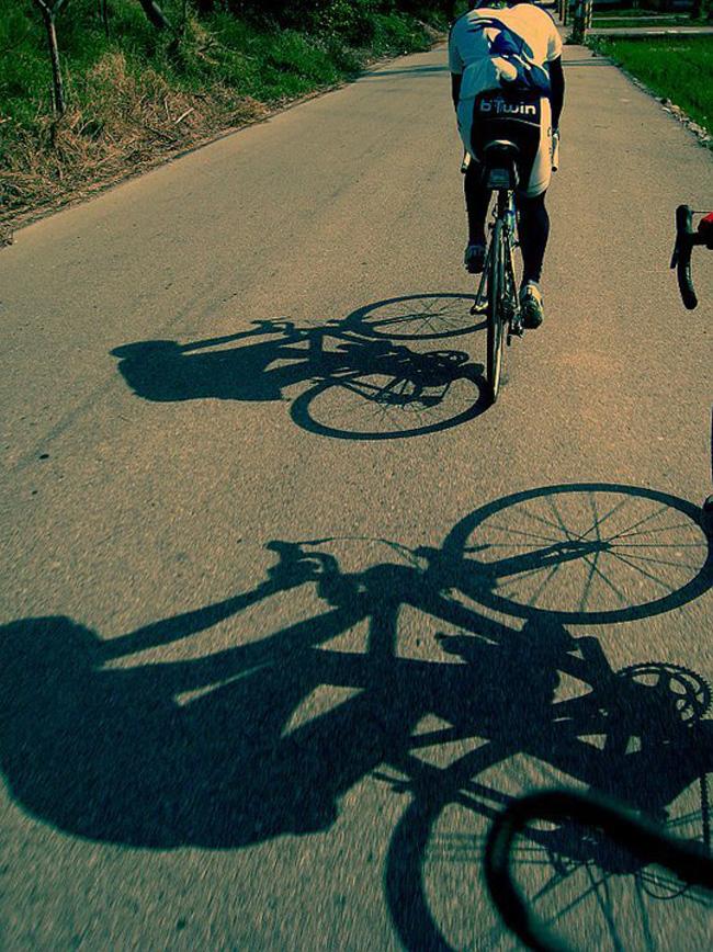 monton,骑行拍照